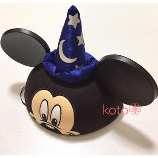 ディズニー(Disney)のWDW ディズニー ミッキー ファンタジア ソーサラー イヤーハット(キャラクターグッズ)