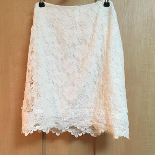 マーキュリーデュオ(MERCURYDUO)のMERCURYDUO コードレースタイトスカート ホワイト S(ミニスカート)