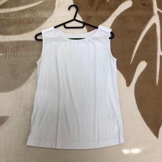 アンドクチュール(And Couture)のノースリーブ タンクトップ カットソー(カットソー(半袖/袖なし))