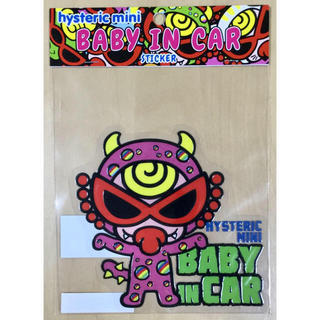 HYSTERIC MINI - ヒスミニ☆正規品☆新品☆BABY IN CAR☆Monster☆ピンク☆カー用品