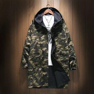 LTFY4432コード ロング メンズ ジャケット 迷彩 両面着られる服 (カバーオール)