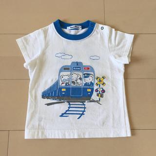 ファミリア(familiar)のファミリア 電車 Tシャツ 90(Tシャツ/カットソー)