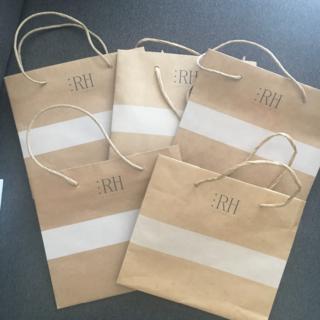 ロンハーマン(Ron Herman)の【RonHerman】ロンハーマン ショップ袋 紙袋 5枚セット(ショップ袋)