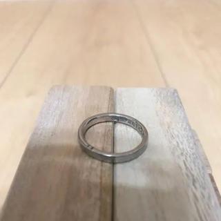 ヤエカ(YAECA)の市松 K18リング 希少ブラックゴールド 15号(リング(指輪))