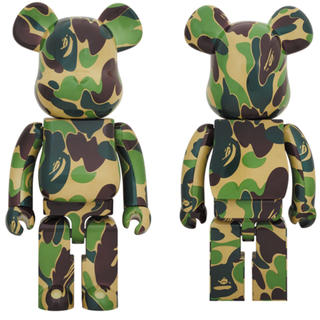 A BATHING APE - ベアブリック be@rbrick ABC CAMO 緑 GREEN 1000%