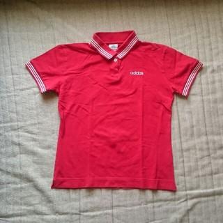 アディダス(adidas)のアディダス ポロシャツ 赤(ポロシャツ)