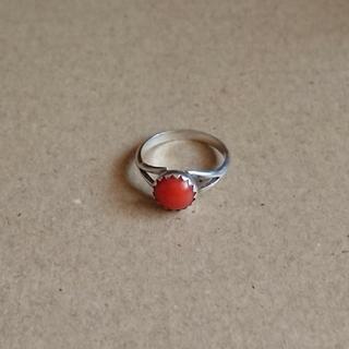 小指サイズリング 珊瑚(リング(指輪))