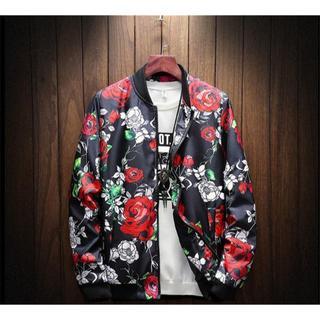 LTJK003新メンズ ジャケット 春 カジュアル トップス ジャンパー  花柄(スカジャン)