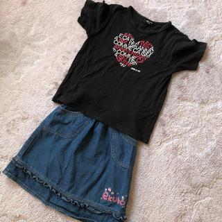 コムサイズム(COMME CA ISM)のCOMME CA ISM Tシャツ  ekuboスカート  二枚まとめて(Tシャツ/カットソー)