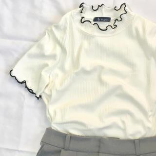シマムラ(しまむら)のRagOut リブニット半袖トップス(カットソー(半袖/袖なし))