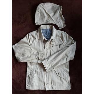 セシール(cecile)のジャケット・取り外しフード付き、春や秋向き(Gジャン/デニムジャケット)