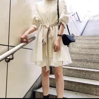 SNIDEL 2019 完売品 ニット デニム ワンピース