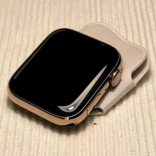 アップルウォッチ(Apple Watch)のApple Watch 4 44mm ゴールド・ステンレス/延長保証あり(その他)