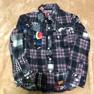 ヒステリックミニ(HYSTERIC MINI)のヒステリックミニ/パッチワークシャツ110(Tシャツ/カットソー)