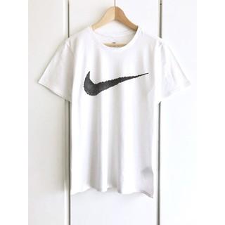 ナイキ(NIKE)の【美品】ナイキ/NIKE『スウォッシュロゴ』ハングタグ Tシャツ/L/ホワイト(Tシャツ/カットソー(半袖/袖なし))