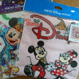 Disney - ディズニー ウォッシュタオル 2個セット
