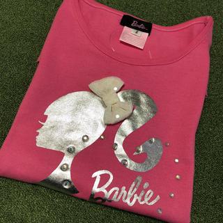 バービー(Barbie)の未使用バービー2/160cm150可愛いピンクリボンTシャツ(Tシャツ/カットソー)