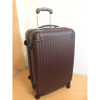 ☆新品☆ 軽量スーツケースMサイズ 伸縮ハンドル 3段階ブラウン(スーツケース/キャリーバッグ)
