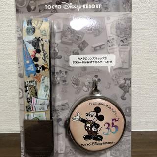 ディズニー(Disney)の35周年カメラストラップ(ネックストラップ)