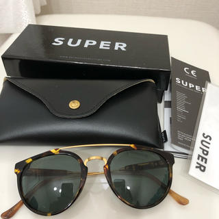 スーパー(SUPER)の美品 super スーパー サングラス べっ甲(サングラス/メガネ)