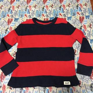 ベビーギャップ(babyGAP)のbabyGAP ボーダーロンT100サイズ(Tシャツ/カットソー)