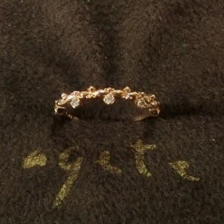 アガット(agete)のアガット ダイヤモンド付K10ピンキーリング 5号(リング(指輪))