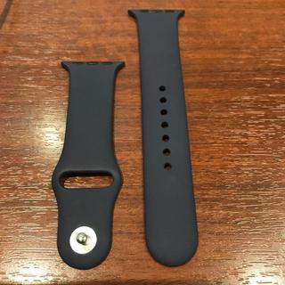 アップルウォッチ(Apple Watch)の(純正品) Apple Watch 38mm バンド ネイビー(ラバーベルト)