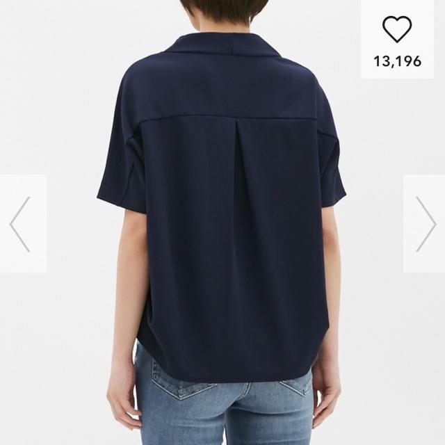 GU(ジーユー)の新品☆GU  フロントタックプルオーバー  XL レディースのトップス(シャツ/ブラウス(半袖/袖なし))の商品写真