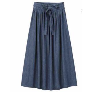 ジーユー(GU)のguのロングデニムスカート(ロングスカート)