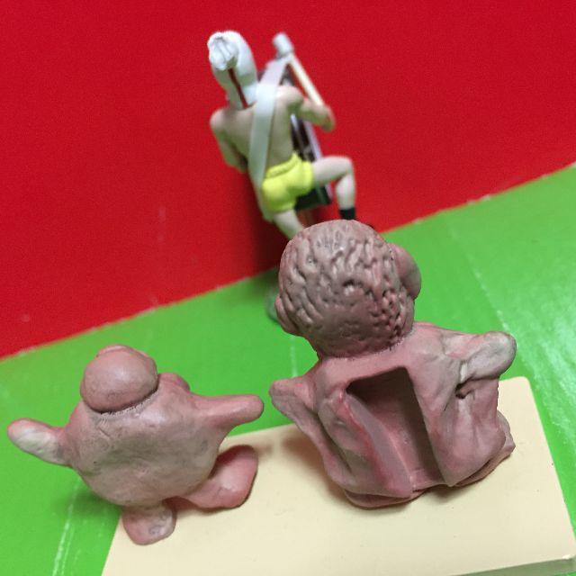 「水曜どうでしょう」フィギュア「焼物藤村」&「焼物on」 &裸の王様がやってきた エンタメ/ホビーのフィギュア(その他)の商品写真
