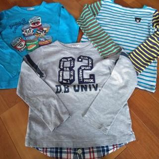 ダブルビー(DOUBLE.B)のミキハウス ダブルB 長袖シャツ 3枚セット(Tシャツ/カットソー)