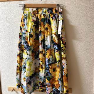 しまむら - 新品 パシオス 花柄スカート 黄色