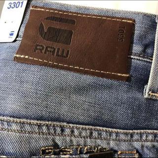 G-STAR RAW - 新品 G-STAR RAW/34インチ/3301 SLIM ウォッシュ ダメージ