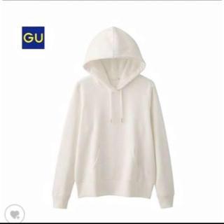 ジーユー(GU)のGU パーカー 白 ホワイト(パーカー)