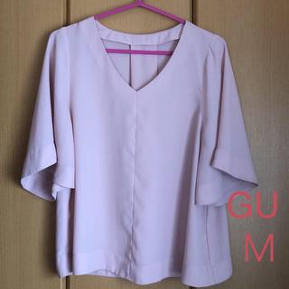 ジーユー(GU)のGU  フレアスリーブ  ブラウス  M(シャツ/ブラウス(半袖/袖なし))