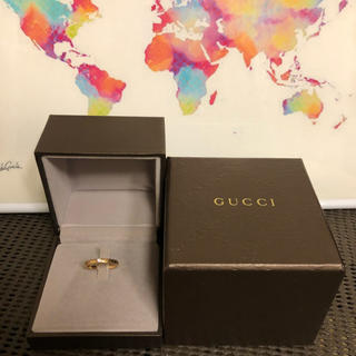 グッチ(Gucci)の 美品 GUCCI グッチ ダイヤリング ディアマンテ k18(リング(指輪))