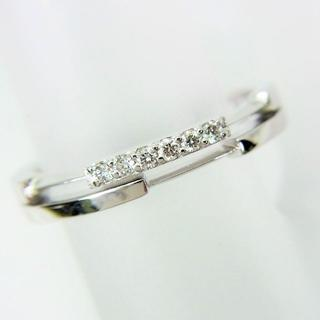 スタージュエリー(STAR JEWELRY)のスタージュエリー K18WG ダイヤモンド リング 7号[f438-24](リング(指輪))