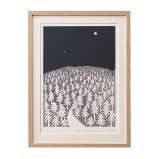 ミナペルホネン(mina perhonen)の皆川明 HOUSE IN THE FOREST 限定ポスター ミナペルホネン(アート/エンタメ/ホビー)