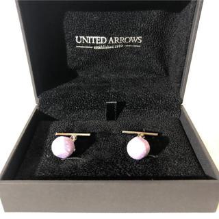ユナイテッドアローズ(UNITED ARROWS)の新品箱付き ユナイテッドアローズ メンズ カフス カフリンクス パープル(カフリンクス)