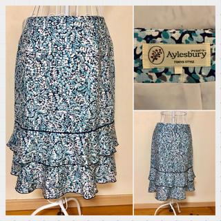 アリスバーリー(Aylesbury)のアリスバーリー 花柄スカート サイズL(ひざ丈スカート)