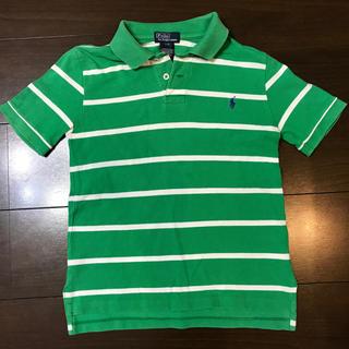 ラルフローレン(Ralph Lauren)のラルフローレン  ポロシャツ 120 緑 白 キッズ(Tシャツ/カットソー)