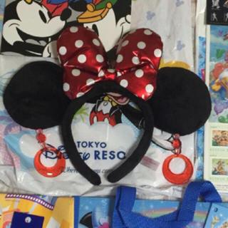 ディズニー(Disney)の美品! Disneyland Minny Mouse ミニー 付け耳♡(カチューシャ)
