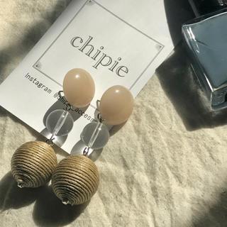 ザラ(ZARA)の再∞販 beige × clear pierce(ピアス)