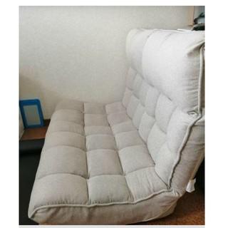 ヤマゼン(山善)のふかふかソファー 座椅子 二人掛け(二人掛けソファ)
