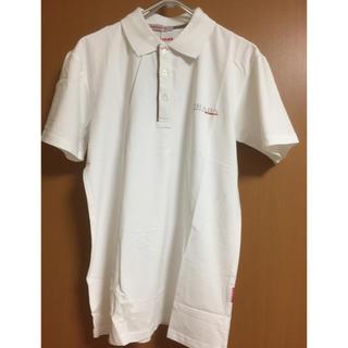 【未着用】メンズ半袖ポロシャツ/Lサイズ/ホワイト(ポロシャツ)