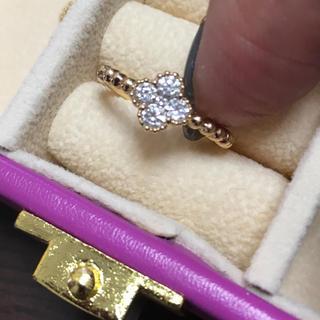 日曜日まで‼️k18 0.25 ダイヤモンド リング ミルウチ  5号(リング(指輪))