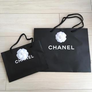 シャネル(CHANEL)のシャネル ショップ袋 大小各1枚ずつ カメリア付き(ショップ袋)