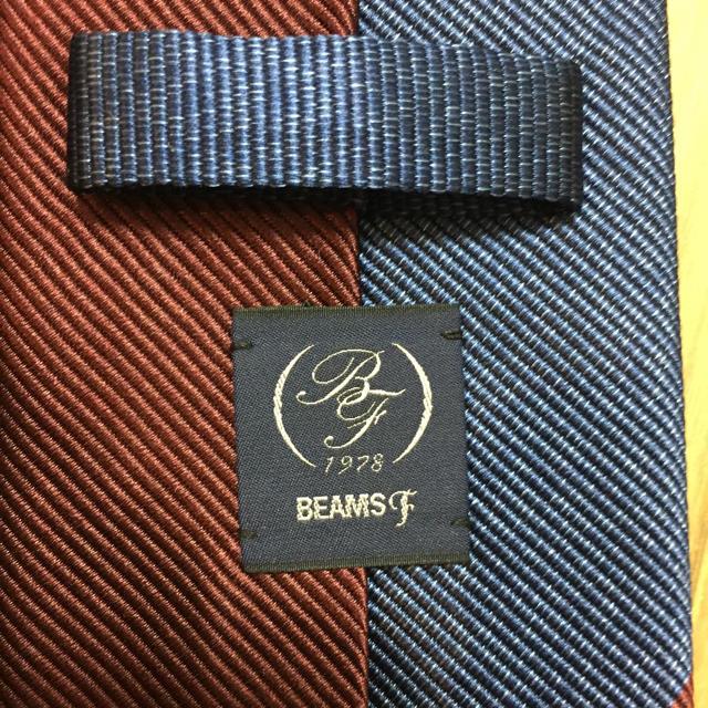 BEAMS(ビームス)のビームスエフ BEAMS F ネイビー ワイン ストライプ レジメンタルネクタイ メンズのファッション小物(ネクタイ)の商品写真