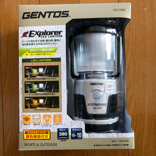 ジェントス(GENTOS)のジェントス ランタン【新品未使用】(ライト/ランタン)