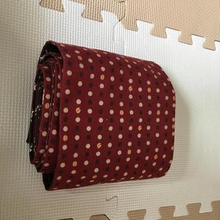 浴衣 帯 赤 ドット トナカイ柄 リバーシブル(浴衣帯)